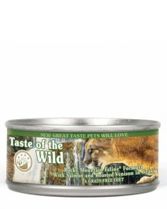 Taste of the Wild Rocky Mountain Feline Formula with Salmon & Roasted Venison in Gravy Canned Cat Food