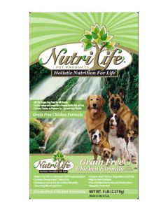 Nutri Life Grain Free Chicken Formula Holisitic Dog Food