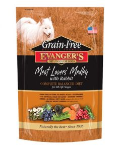 Evangers Grain Free Meat Lover's Medley w/Rabbit Dog Food
