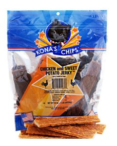 Kona's Chips Chicken and Sweet Potato Jerky Sticks