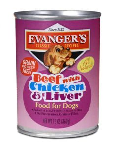 Evangers Classic Line Beef with Chicken & Liver Canned Dog Food