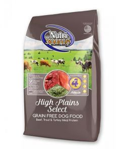 NutriSource Grain Free High Plains Select Beef