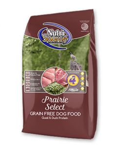 NutriSource Prairie Select Grain Free Quail & Duck Dog Food