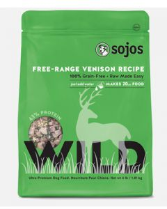 Sojos - Wild Dog Food Venison Recipe