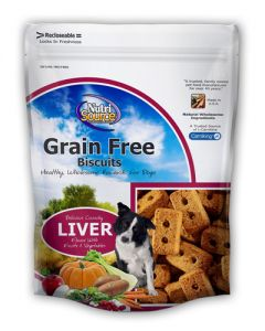 NutriSource Grain Free Liver Formula Dog Biscuits