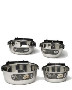Midwest Homes Snapy Fit Stainless Steel Bowl