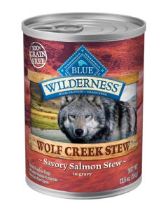 Blue Buffalo Wilderness Grain Free Wolf Creek Salmon Stew Canned Dog Food