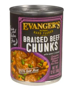 Evangers Hand Packed Specialties Braised Beef Chunks With Gravy Canned Dog Food