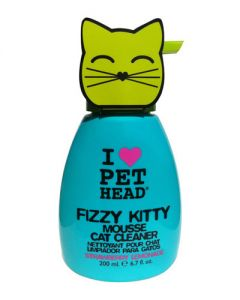 Pet Head Inc Fizzy Kitty Strawberry Lemonade Mousse Cleaner for Cats