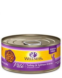 Wellness Complete Health Turkey & Salmon Patte Canned Cat Food