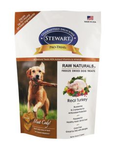Stewart - Pro Treat Natural Raw Freeze Dried Turkey with Berries & Flaxseed Dog Treats