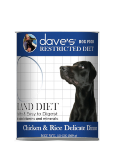 Dave's Pet Food Restricted Bland Chicken & Rice Canned Dog Food
