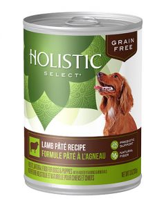 Holistic Select Grain Free Lamb Pate Canned Dog Food