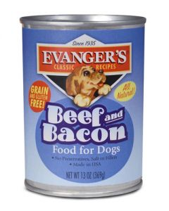 Evangers Classic Line Beef & Bacon Canned Dog Food