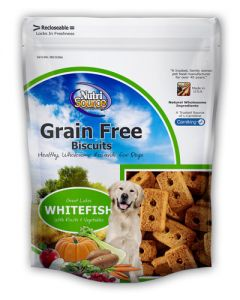 NutriSource Grain Free Whitefish Formula Dog Biscuits