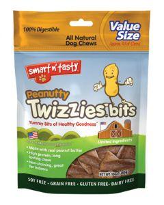 Smart n' Tasty Peanutty Twizzies Bits Dog Treats