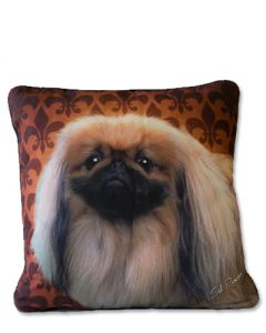 POPPA-ARTZEE - Pekingese Throw Pillow
