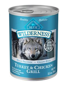Blue Buffalo Wilderness Grain Free Turkey Chicken Canned Dog Food