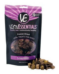 Vital Essentials® Freeze-Dried Turkey Giblets Grain Free Limited Ingredient Dog Treats