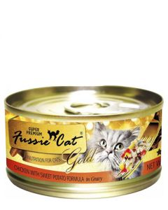 Fussie Cat Super Premium Chicken with Sweet Potato in Gravy Canned Cat Food