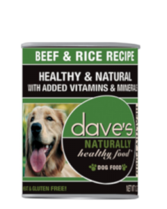 Dave's Pet Food Naturally Healthy Beef & Rice Canned Dog Food