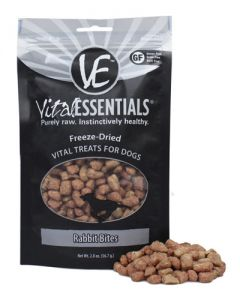 Vital Essentials® Freeze-Dried Rabbit Bites Grain Free Limited Ingredient Dog Treats