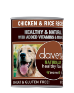 Dave's Pet Food Naturally Healthy Chicken & Rice Canned Dog Food