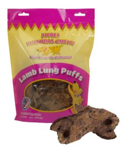 Jones Natural Chews Lamb Lung Puff Dog Treats