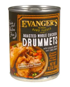 Evangers Hand Packed Specialties Whole Chicken Thighs Canned Dog Food