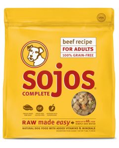 Sojos Complete Beef Recipe Adult Grain-Free Freeze-Dried Raw Dog Food