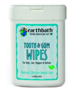 Earthbath Tooth & Gum Wipes with Lite Peppermint Flavor