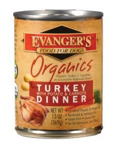 Evangers Organic Cooked Turkey with Potato & Carrots Dinner Canned Dog Food