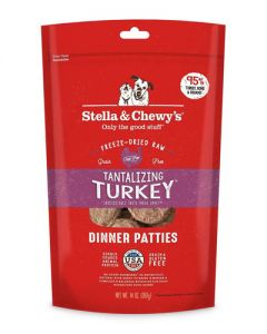 Stella & Chewy's - Freeze Dried Tantalizing Turkey Dinner Patties - Dog Food
