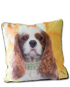 POPPA-ARTZEE - Blenheim Cavalier Throw Pillow