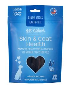 NPIC - Get Naked Grain Free Skin and Coat - Dental Chew Sticks for Dogs