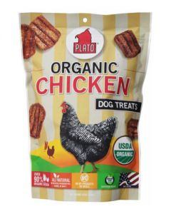 Plato Dog Treats Organic Chicken Strips