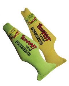 Yeowww! Green & Yellow Fish CatNip Treats