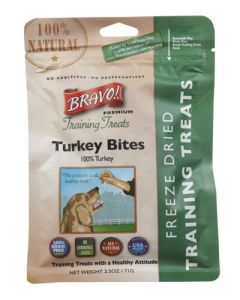 Bravo! Premium Freeze Dried Turkey Dog Training Treats