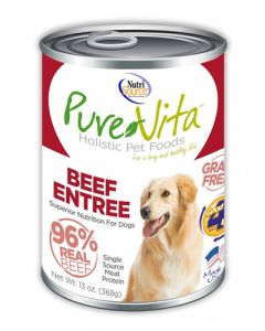 Pure Vita Grain Free Beef & Beef Liver Entree - Canned Dog Food