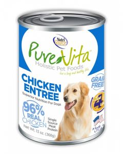 Pure Vita Grain Free Chicken & Chicken Liver Entree Canned Dog Food