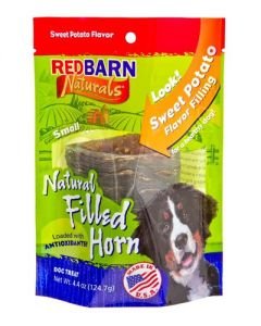 Redbarn Products Natural Filled Horn Sweet Potato Dog Chews
