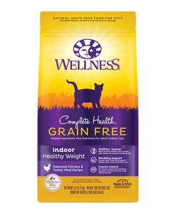 Wellness Complete Health Grain Free Indoor Healthy Weight Chicken Dry Cat Food
