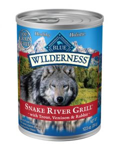 Blue Buffalo Wilderness Grain Free Snake River Grill Canned Dog Food