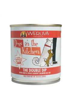 Weruva - Dogs in the Kitchen -The Double Dip With Beef & Wild Caught Salmon Au Jus