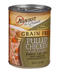 Against the Grain Hand Pulled Chicken Canned Dog Food