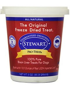 Stewart - Pro Treat Raw Freeze Dried Bison Liver