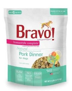 Bravo! Freeze Dried Pork Homestyle Complete Dinner Dog Food