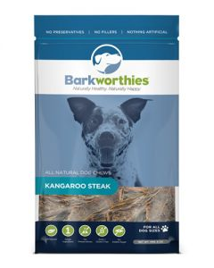 Barkworthies - Kangaroo Steak Dog Chew