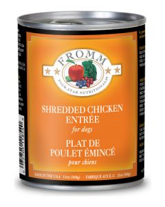 Fromm Family Foods Four Star Shredded Chicken in Gravy Entree Dog Food