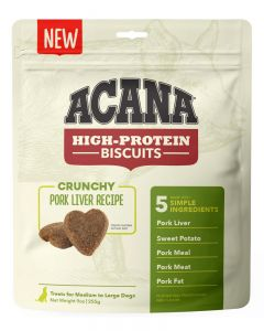 ACANA High-Protein Biscuits Crunchy Pork Liver Recipe Dog Treats